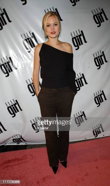 Julia Stiles during ELLEGirl party to celebrate its 'backtoschool' debut issue at The Roxy in New York City New York United States