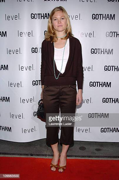 Julia Stiles during Julia Stiles Hosts Her Gotham Magazine Cover Party at AER Lounge in New York City New York United States