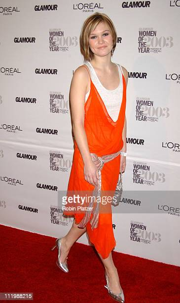 Julia Stiles during The 14th Annual Glamour Women of The Year Awards Arrivals And Press Room at American Museum Of Natural History in New York City...