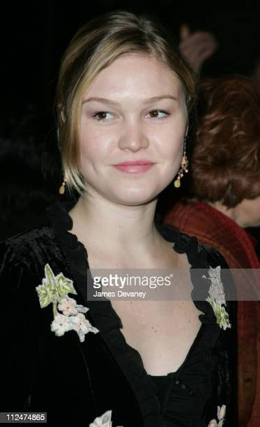 Julia Stiles during ''The Good Body'' Opening Night Arrivals at Booth Theatre in New York City New York United States