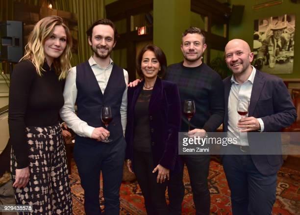 Julia Stiles George Blagden Liz Janneman Warren Brown and Joe Fattorini attend as Ovation TV hosts 20182019 Programming Preview at Soho Grand Hotel...