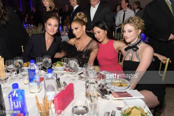 Julia Stiles, Jennifer Lopez, Constance Wu and Lili Reinhart attend the 2019 IFP Gotham Awards with FIJI Water at Cipriani Wall Street on December...