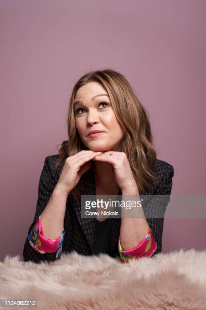 Julia Stiles of Sky Atlantic's 'Riviera' poses for a portrait during the 2019 Winter TCA Portrait Studio at The Langham Huntington Pasadena on August...