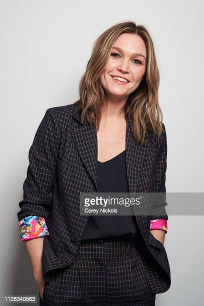 Julia Stiles of Sky Atlantic's 'Riviera' poses for a portrait during the 2019 Winter TCA Portrait Studio at The Langham Huntington Pasadena on...