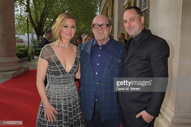 Julia Stiles Paul McGuinness and Preston J Cook attend the Premiere Screening for the new season of Sky Original Riviera at The Saatchi Gallery on...