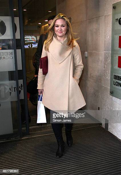 Julia Stiles sighting at the BBC studios on February 5 2015 in London England