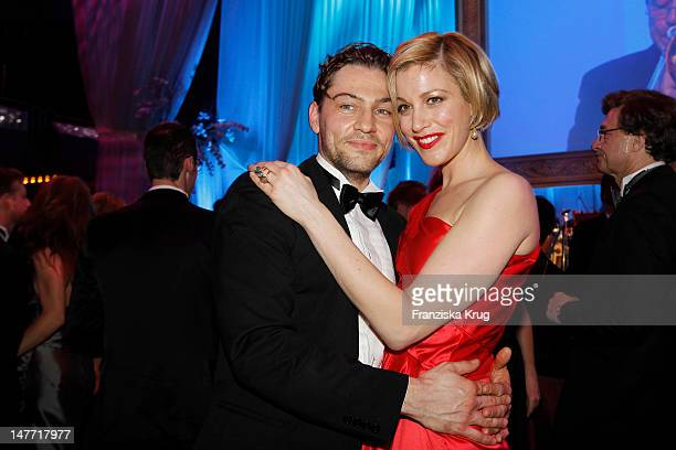 Julia Stinshoff and Leander Licht attend the German Opera Ball 2012 at the Alte Oper on February 25 2012 in Frankfurt Germany