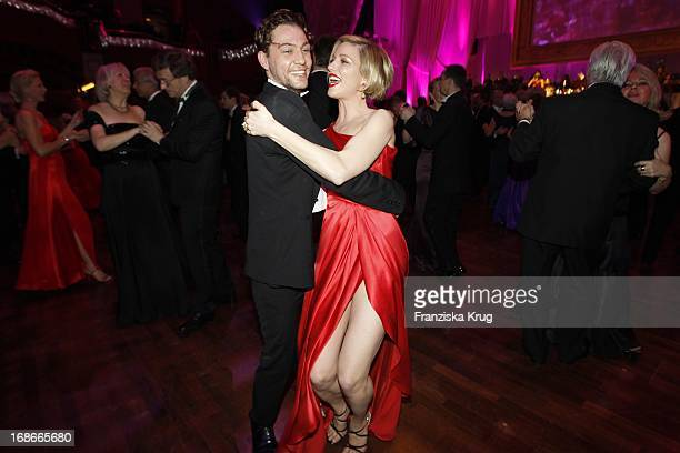 Julia Stinshoff And Leander Lichti at the German Opera Ball In The Old Opera House in Frankfurt
