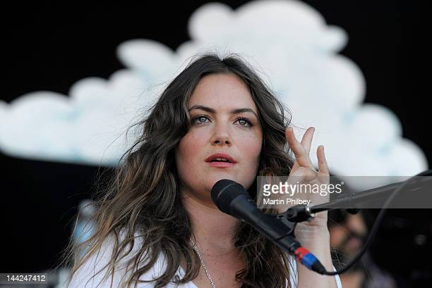 Julia Stone performs on stage at the Melbourne Big Day out at Flemington racetrack on Sunday 30th January 2011 in Melbourne Australia