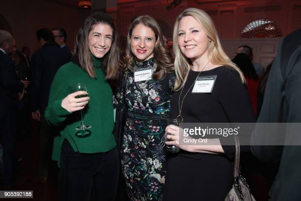 Julia Strauss Amanda Baldwin and Lisle Davies attend the Financo CEO Forum on January 15 2018 in New York City