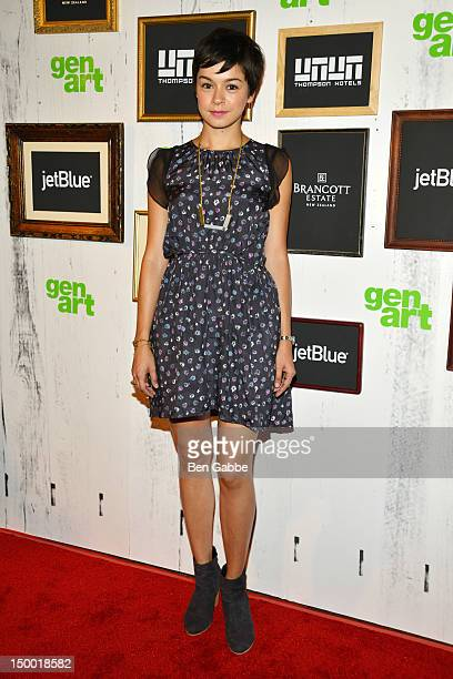 Julia Taylor Ross attends the Missed Connections screening during the 2012 GenArt Film Festival opening night at the School of Visual Arts Theater on...