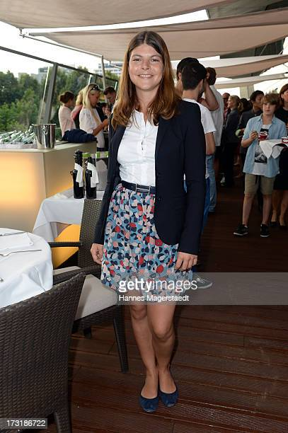 Julia Tewaag attends the House of HaeagenDazs Barbecue Icecream Party at BMW World on July 9 2013 in Munich Germany