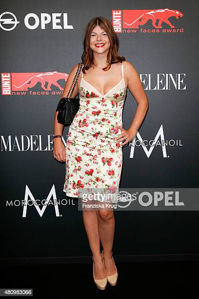 Julia Tewaag attends the MADELEINE At New Faces Award Fashion 2015 on July 16 2015 in Munich Germany
