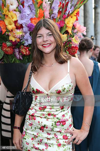 Julia Tewaag daughter of Uschi Glas during the New Faces Award Fashion 2015 on July 16 2015 at P1 in Munich Germany