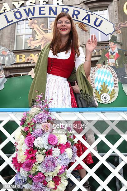 Julia Tewaag during Oktoberfest Opening Perusastrasse Start to the Oktoberfest on September 20 2014 in Munich Germany