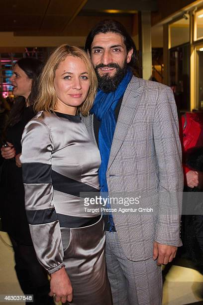 Julia Thurnau and her partner Numan Acar attend the NRW Reception 2015 at Landesvertretung on February 8 2015 in Berlin Germany