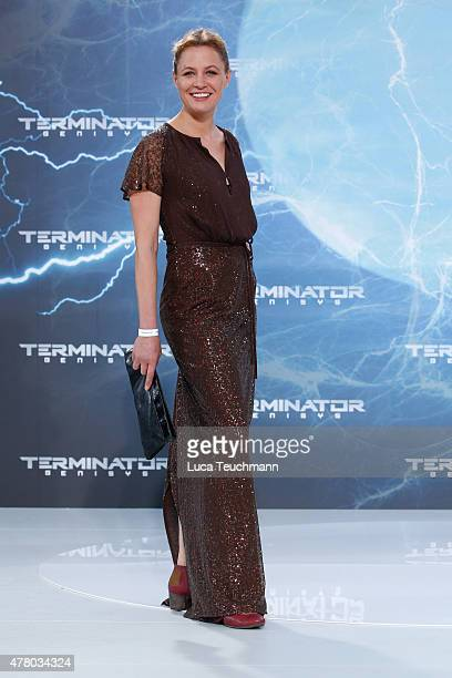 Julia Thurnau arrives at the European Premiere of 'Terminator Genisys' at the CineStar Sony Center on June 21 2015 in Berlin Germany