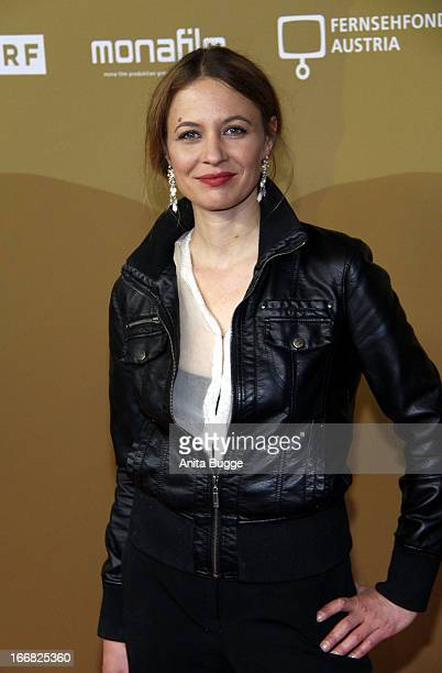Julia Thurnau attends the 'Die Ausloeschung' premiere at Astor Film Lounge on April 17 2013 in Berlin Germany