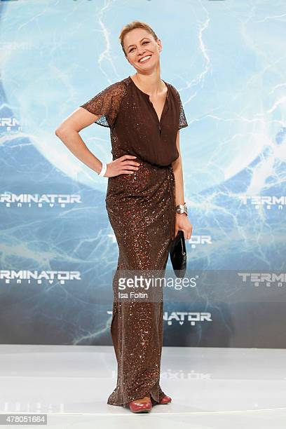 Julia Thurnau attends the European Premiere of 'Terminator Genisys' at the CineStar Sony Center on June 21 2015 in Berlin Germany