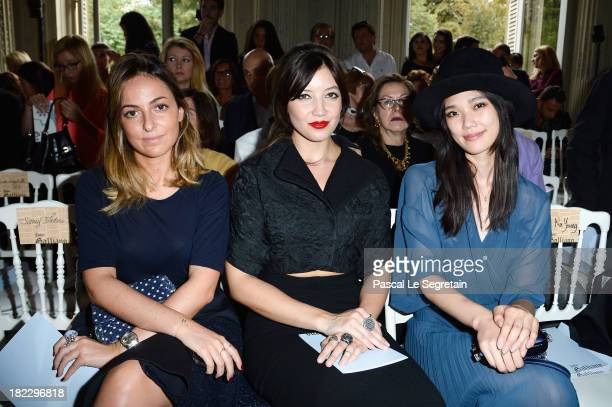 Julia Toledano Daisy Lowe and Tao Okamoto attend the John Galliano show as part of the Paris Fashion Week Womenswear Spring/Summer 2014 at Hotel...