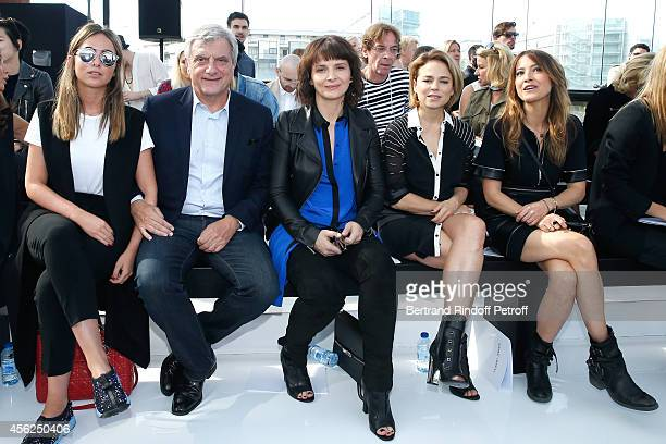 Julia Toledano her father and CEO Dior Sidney Toledano Juliette Binoche Suzanne Clement and Keren Ann attend the Maxime Simoens show as part of the...