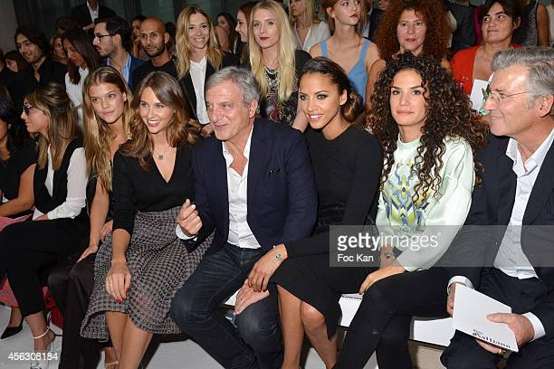 Julia Toledano Nina Agdal Ophelie Meunier Sidney Toledano and Noemie Lenoir attend the John Galliano show as part of the Paris Fashion Week...