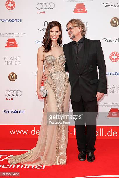 Julia Trainer and Martin Krug during the German Film Ball 2016 at Hotel Bayerischer Hof on January 16 2016 in Munich Germany