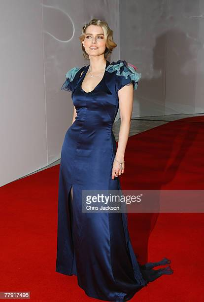 Julia Valet presenter attends the Montblanc VIP Charity Gala Dinner held at the Monte Carlo Sporting Club on November 14 2007 in Monte Carlo Monaco...