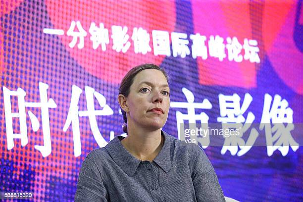 Julia van Mourik director of The One Minutes attends Urban Image of the Times International Summit Forum of the OneMinute Film Competition during the...