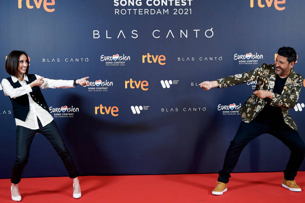 ESP: Blas Canto Poses For The Media Ahead of Eurovision