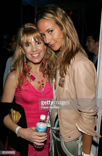 Julia Verdein and Lady Victoria Hervey attend the Play Station Portable Fashion and Technology show at Pret A PSP at the Pacific Design Center on...