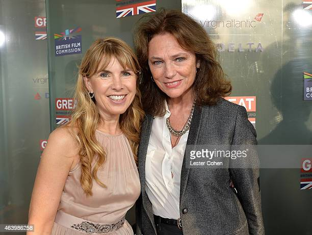 Julia Verdin and actress Jacqueline Bisset attend the GREAT British film reception honoring the British nominees of the 87th Annual Academy Awards at...