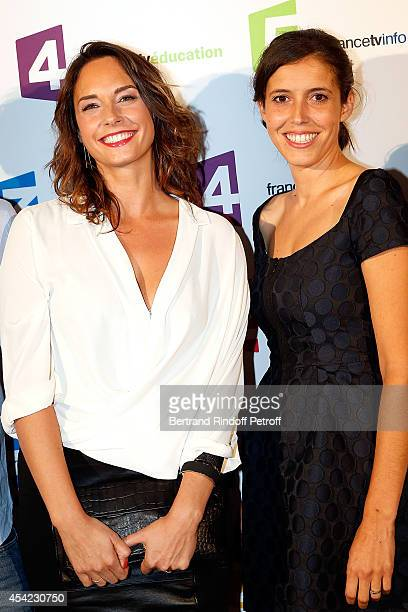 Julia Vignali and Carole Tolila attend the 'Rentree De France Televisions' at Palais De Tokyo on August 26 2014 in Paris France