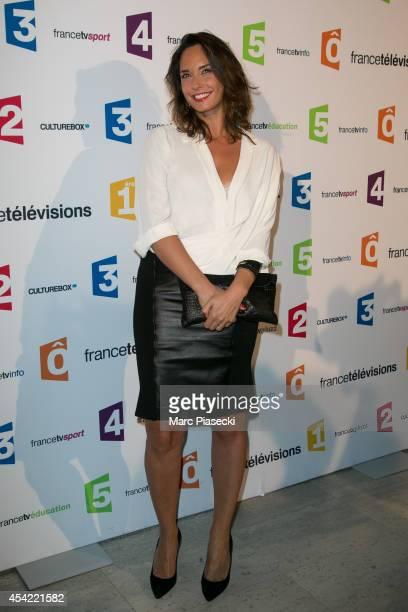 Julia Vignali attends the 'Rentree de France Televisions' at Palais De Tokyo on August 26 2014 in Paris France