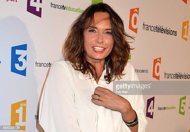 Julia Vignali attends the 'Rentree de France Televisions' at Palais De Tokyo on August 26 2014 in Paris France