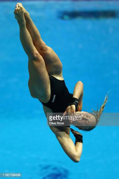 Julia Vincent of South Africa competes in the Women's 3m Springboard Semifinal on day seven of the Gwangju 2019 FINA World Championships at Nambu...