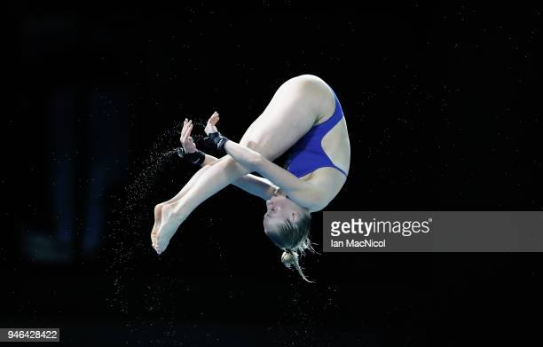 Julia Vincent of South Africa is seen competing in the Women's 3m Springboard final during Diving on day 10 of the Gold Coast 2018 Commonwealth Games...