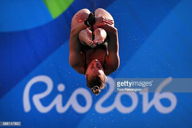 Julia Vincent of South Africa practices during training at the Maria Lenk Aquatics Centre on August 5 2016 in Rio de Janeiro Brazil