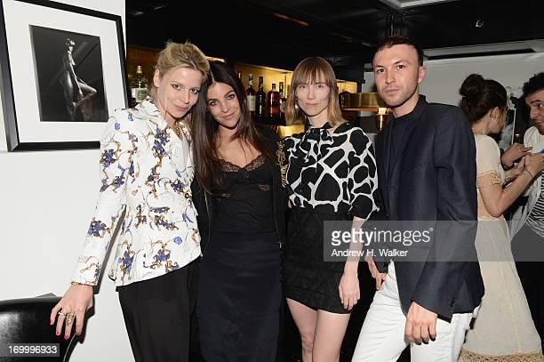 Julia Von Boehm Julia Restoin Roitfield Anya Ziourova and Tom Van Dorpe attend the Casadei dinner at Omar's hosted by Julia Restoin Roitfeld and...