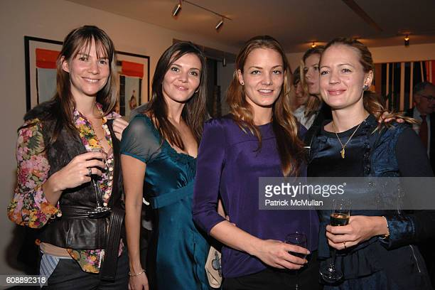 Julia von Eichel Alina Suprenova Katharina Harf and Anna Bayern attend Party for SANDY HILL New Lifestyle Book FANDANGO at Galerie Mark on November...