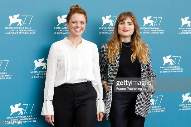 Julia von Heinz Mala Emde attends the photocall of 'Und Morgen Die Ganze Welt And Tomorrow The Entire World' during the Venice Film Festival at the...