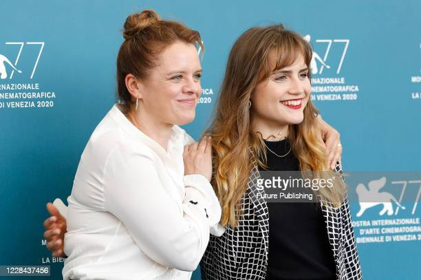 Julia von Heinz, Mala Emde attends the photocall of 'Und Morgen Die Ganze Welt And Tomorrow The Entire World)' during the Venice Film Festival at the...