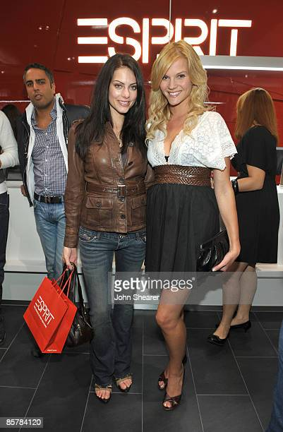 SANTA MONICA CA APRIL 02 Julia Voth and Amber Borycki attend the grand opening celebration of Esprit Santa Monica at Esprit on April 2 2009 in Santa...