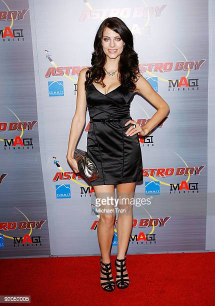 Julia Voth arrives to the Los Angeles premiere of Astro Boy held at Grauman's Chinese Theatre on October 19 2009 in Los Angeles California