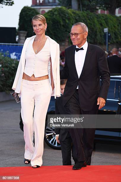 Julia Vysotskaya and Andrei Konchalovsky attend the closing ceremony of the 73rd Venice Film Festival at Sala Grande on September 10 2016 in Venice...