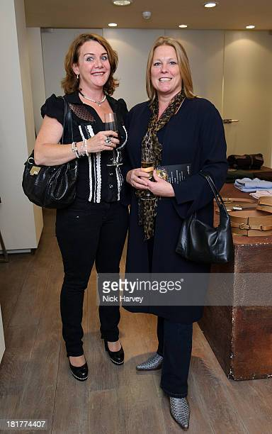 Julia WallaceWalker and Viscountess Lucy Gormanston attend the Leon Max A/W Collection private view at Leon Max Westbourne Grove on September 24 2013...