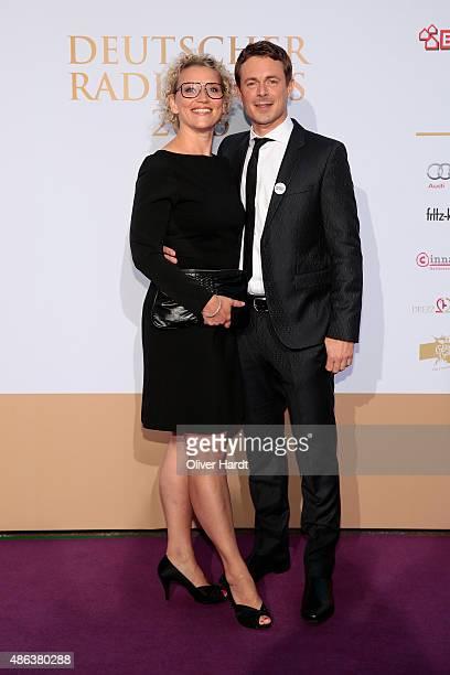 Julia Westlake and Alexander Bommes poses during the Deutscher Radiopreis 2015 at Schuppen 52 on September 3 2015 in Hamburg Germany