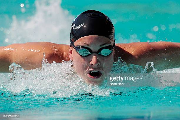 Julia Wilkinson swims the butterfly in the womens 200 meter IM prelims at the XLIII Santa Clara International Invitational a USA Swimming Grand Prix...