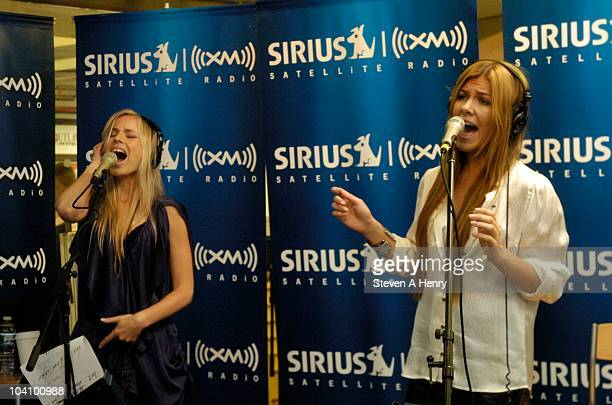 Julia Williamson and Clara Hagman of Ace of Base visits the SIRIUS XM Studio on September 14 2010 in New York City