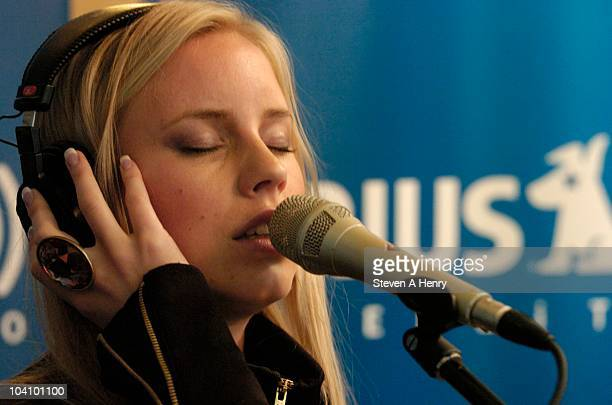 Julia Williamson of Ace of Base visits the SIRIUS XM Studio on September 14 2010 in New York City
